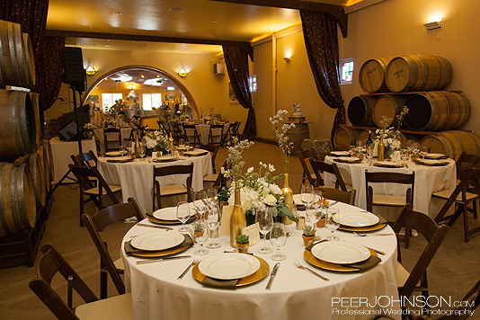 CassWinery BarrelRoom Cass Winery Fall Wedding
