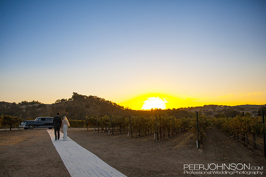 CassWinery Sunset Cass Winery Fall Wedding