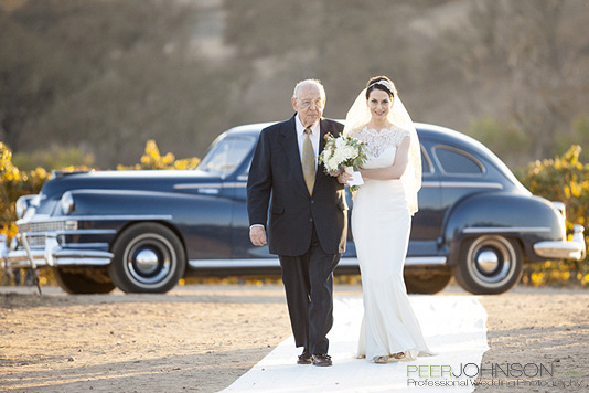 Vintage Limo Cass Winery Fall Wedding