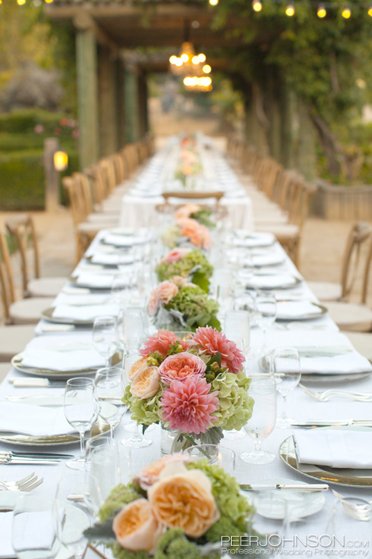 Carmel Valley Wedding Reception Table Settings