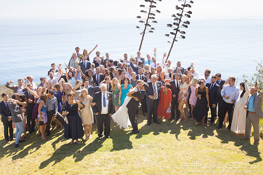 Point 16 Big Sur Wedding Group Photo
