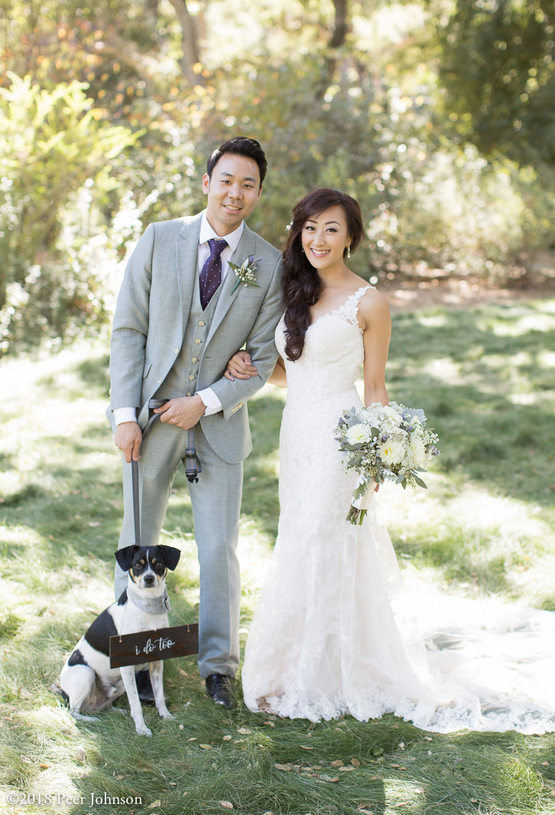 gardener ranch wedding dog