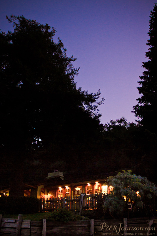 Big Sur Bakery wedding at night