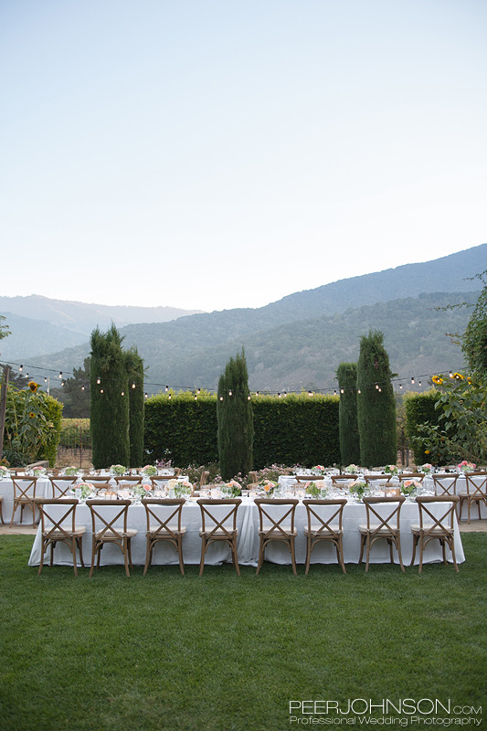 Bernardus Lodge Wedding Reception