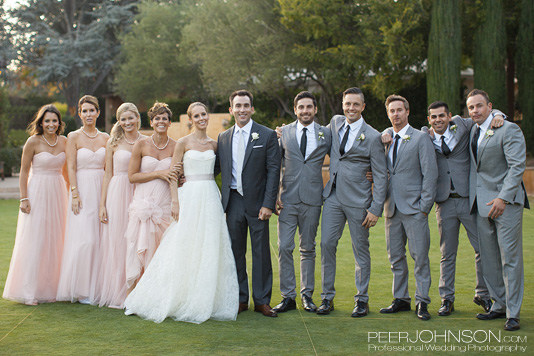 Bernardus Lodge Wedding Party