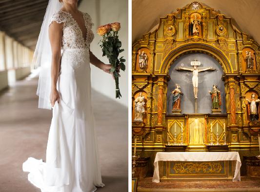 Carmel Mission Wedding Dress