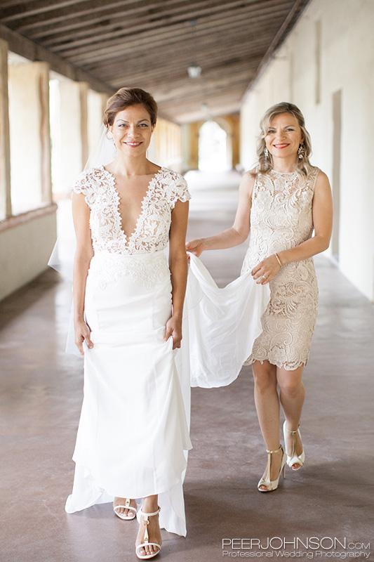 Carmel Mission Bridesmaid