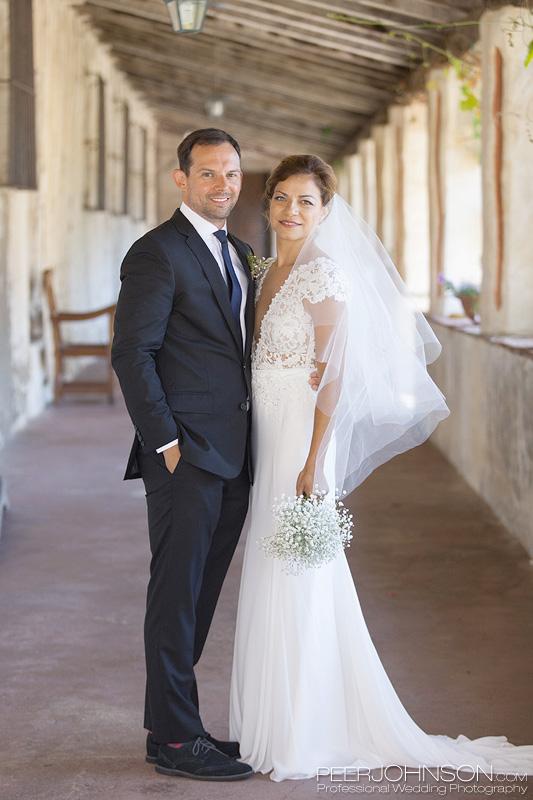 Carmel Mission Wedding Photo