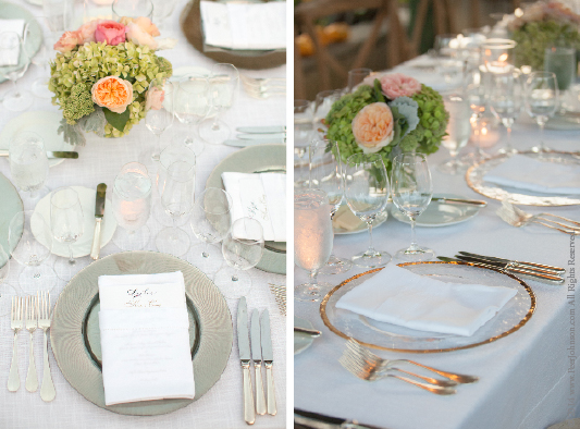 Carmel Valley Wedding Place Setting