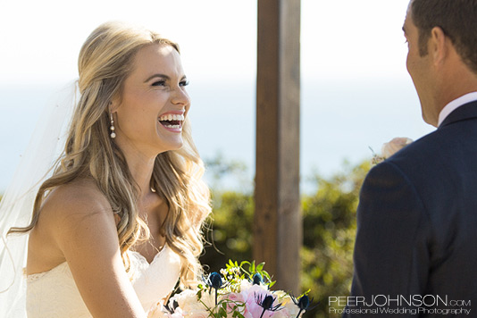Wind and Sea Ceremony Bride