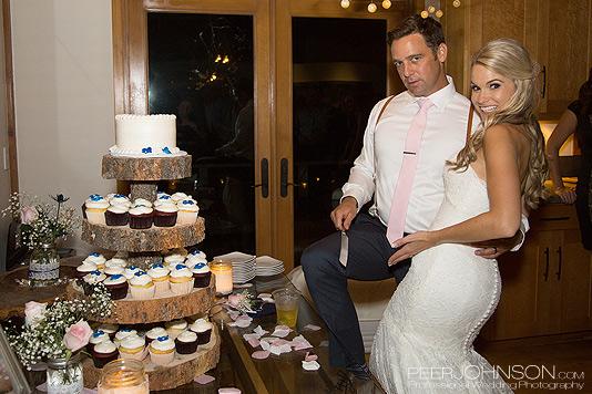 Wind and Sea Wedding Cake Cutting