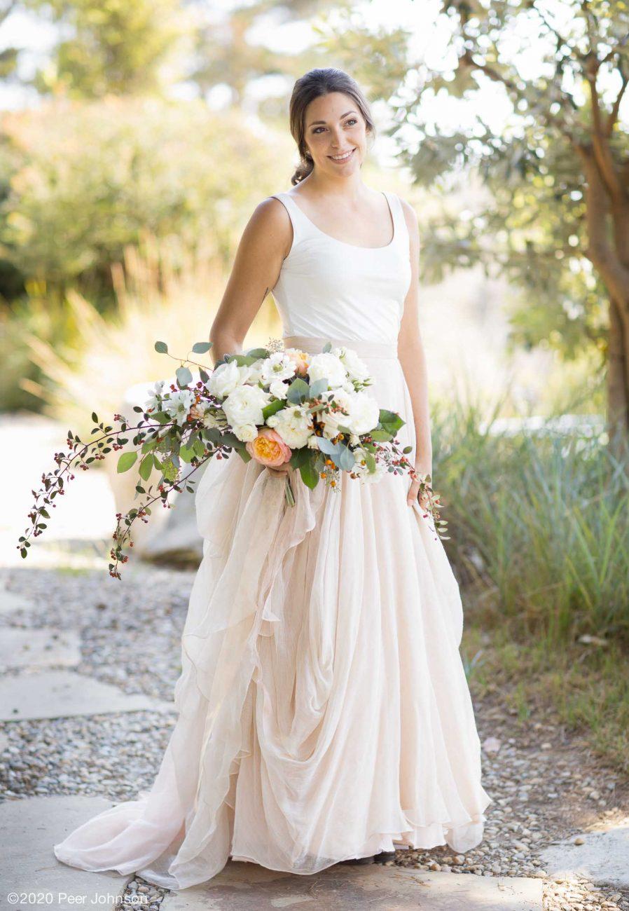 A bride at Wind and Sea Big Sur.
