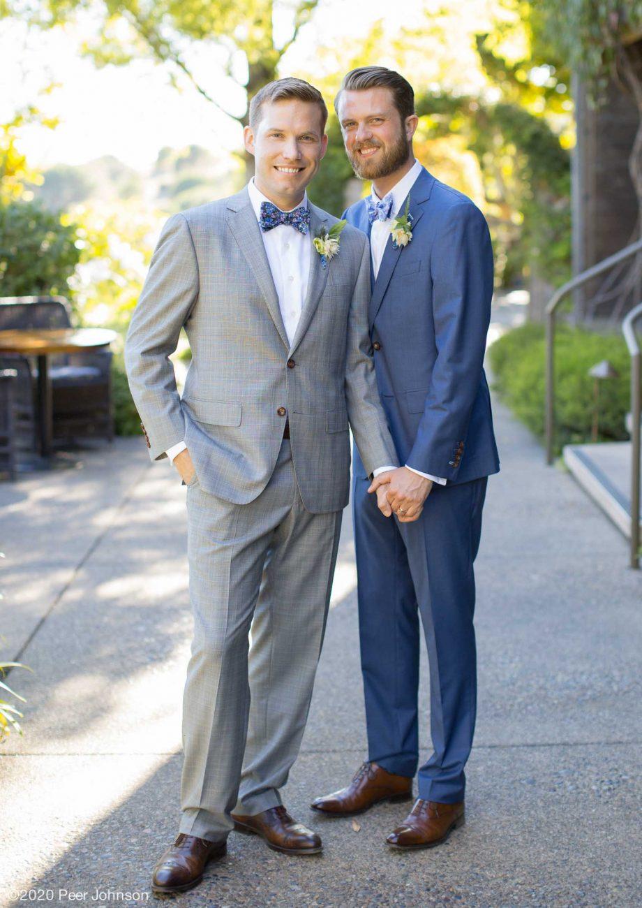 Two grooms at Ventana Inn & Spa.