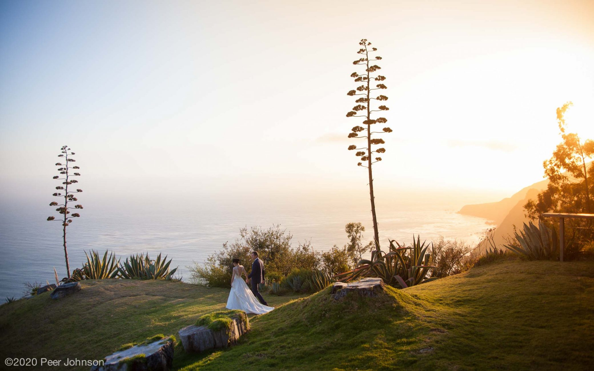 Point 16 wedding at sunset.