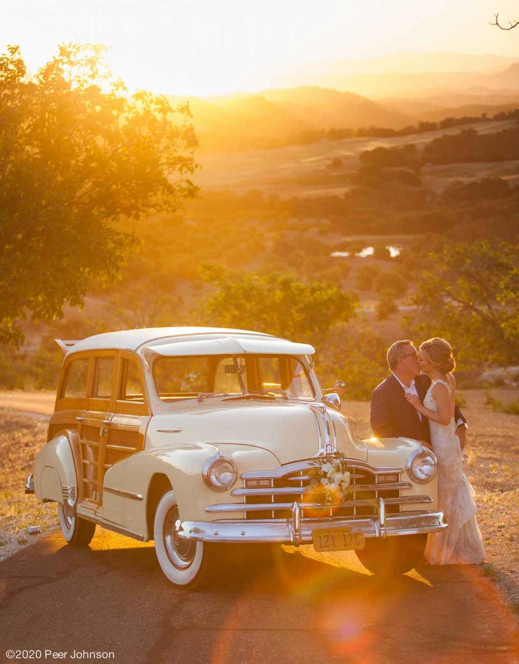 Sunset Wedding Photo in Paso Robles