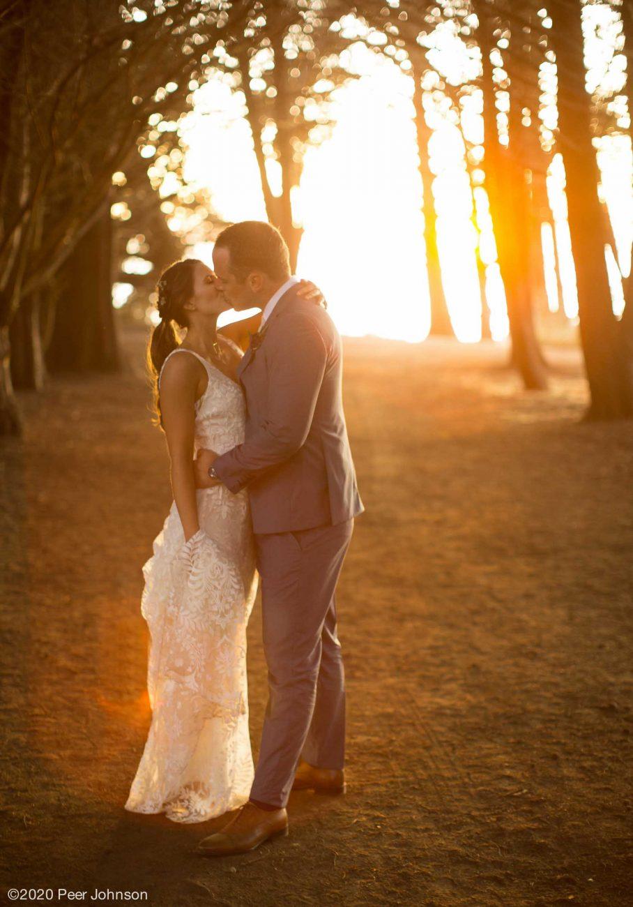 Sunset wedding Ragged Point