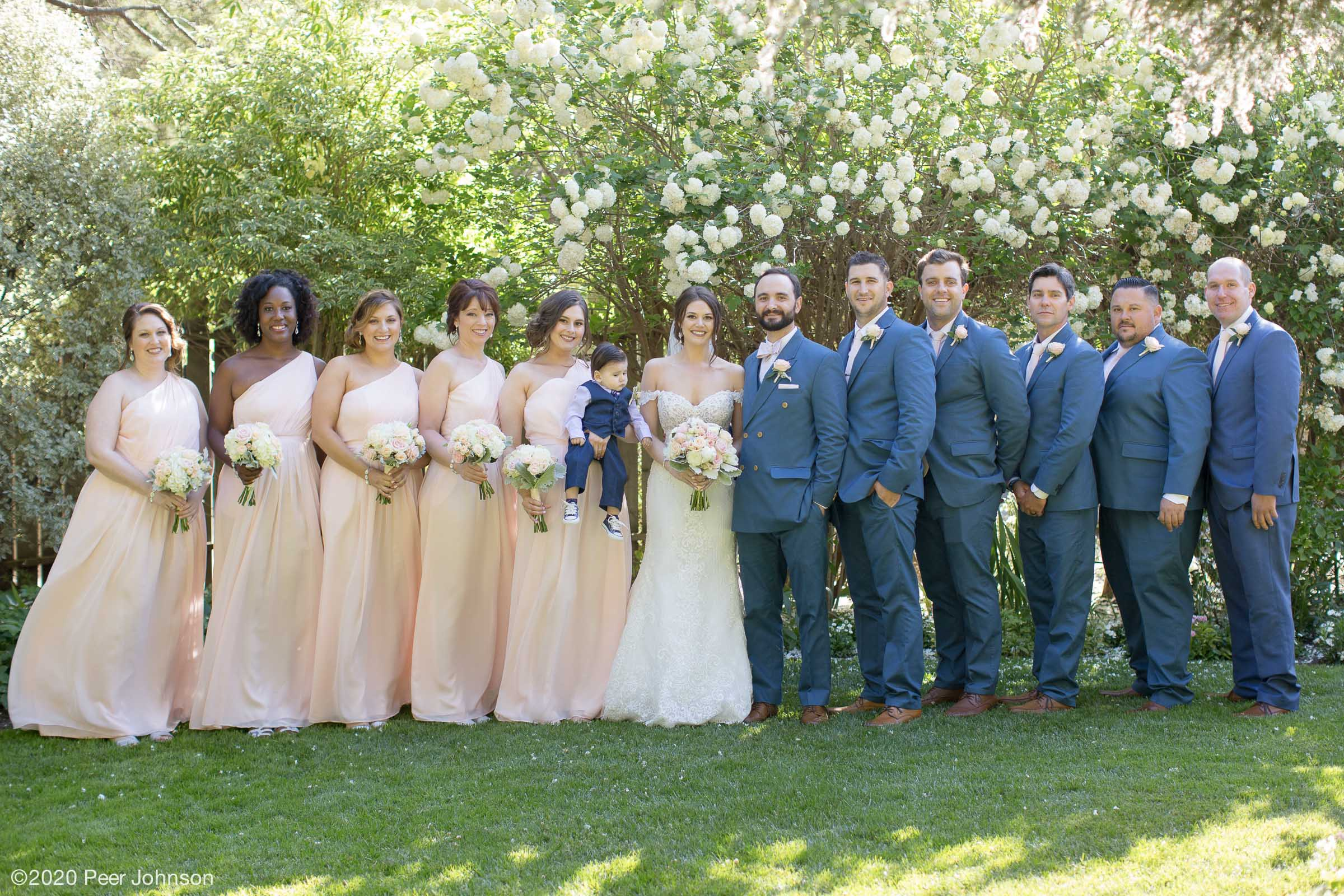 Cambria Pines Lodge Wedding Party