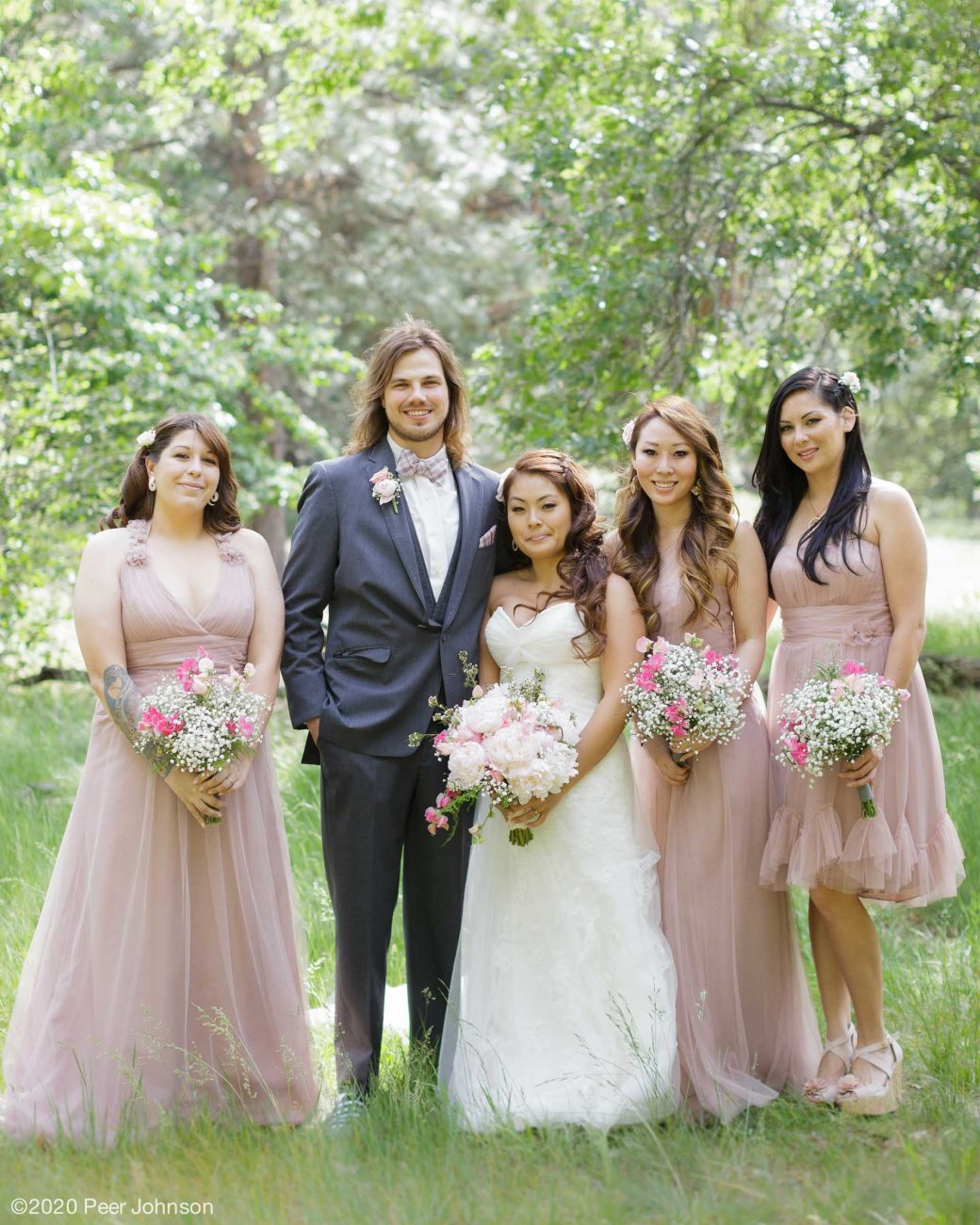 bridesmaids in cambria