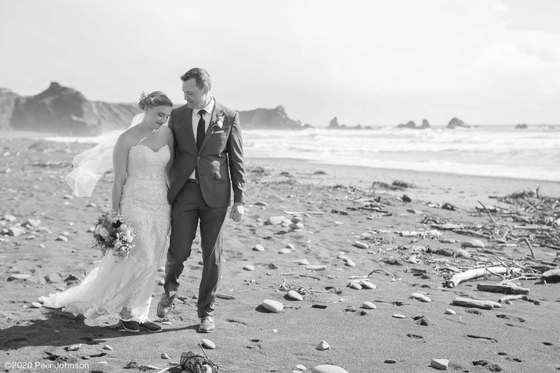 Elopement at Moonstone Beach